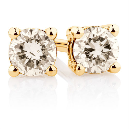 Bargain - $499 (was $799) - Stud Earrings with a 1/4 Carat TW of Diamonds in 10ct Yellow Gold @ Michael Hill