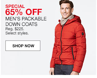 Bargain - 65% OFF - Men`s Packable Down Coats @ Macy`s