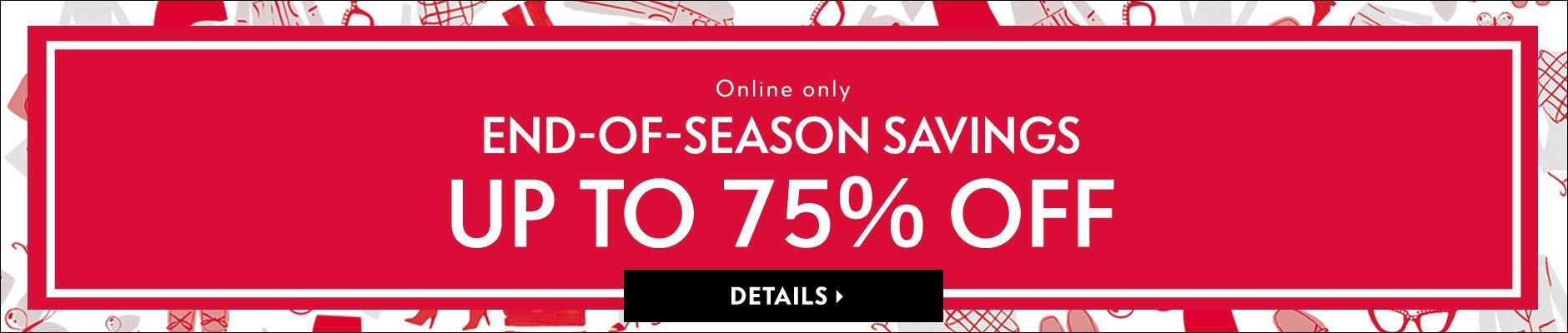 Bargain - Up to 75% OFF - End of Season Sale @ Neiman Marcus