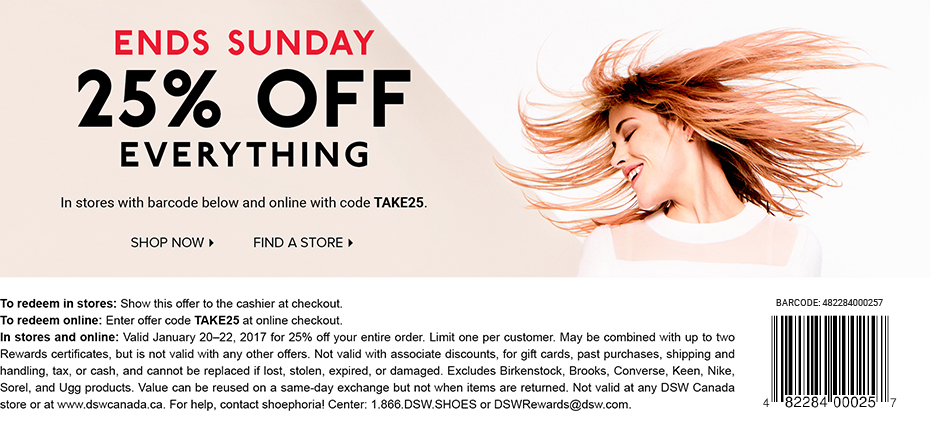 Bargain - Extra 25% OFF - Everything @ DSW Shoes