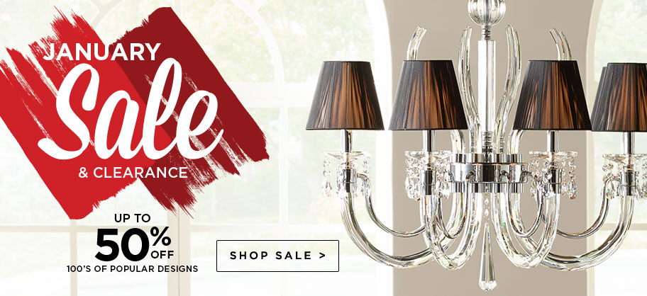 Bargain - Up to 50% OFF - January Sale & Clearance @ Lamps Plus