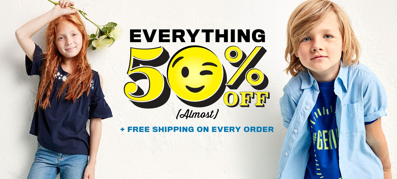 Bargain - 50% OFF - Everything @ Childrens` Place