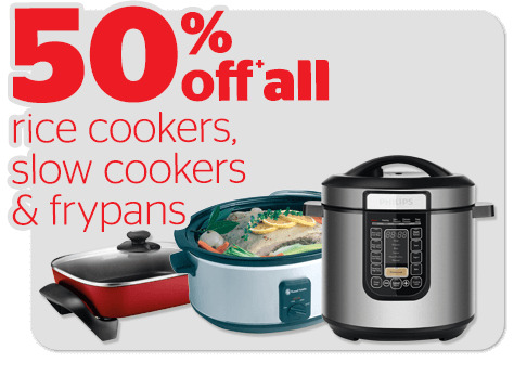 Bargain - 50% OFF - Rice Cookers, Slow Cookers & Frypans @ Noel Leeming