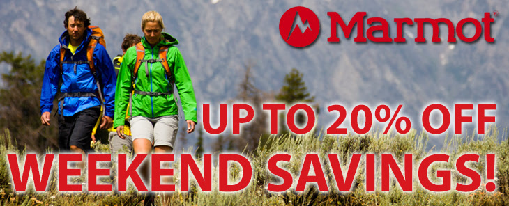 Bargain - Up to 20% OFF - Marmot Weekend Savings @ Outside Sports