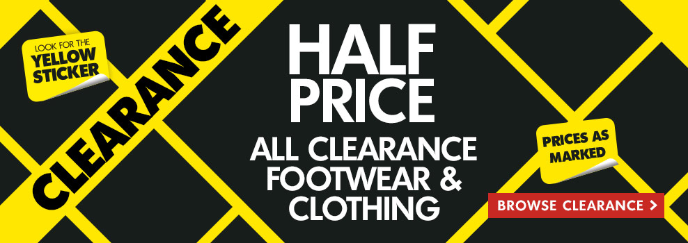 Bargain - Half Price - All Clearance Footwear & Clothing @ The Warehouse
