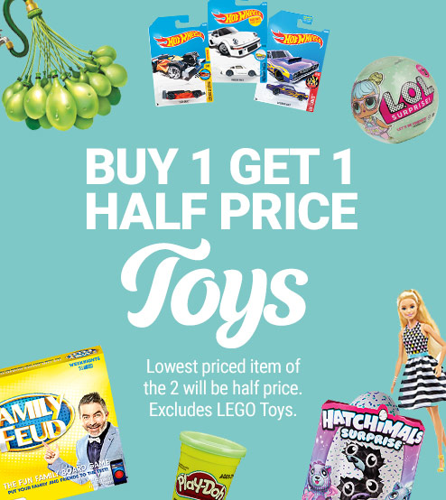 Bargain - Buy 1 Get One Half Price - Toys @ The Warehouse